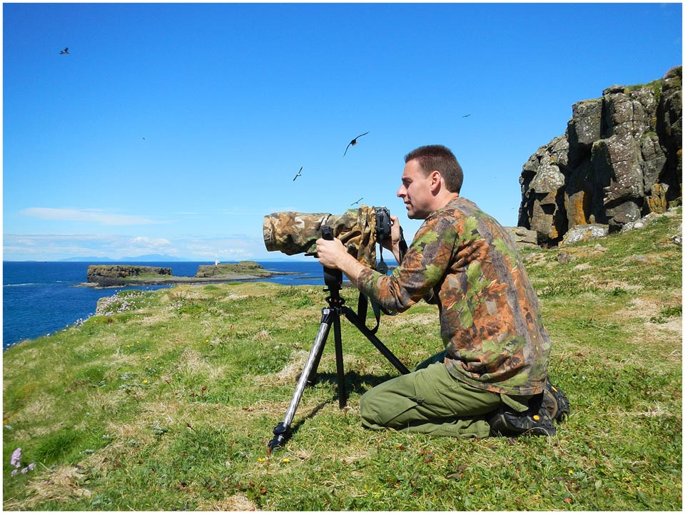 Toby Houlton in the Treshnish Isles
