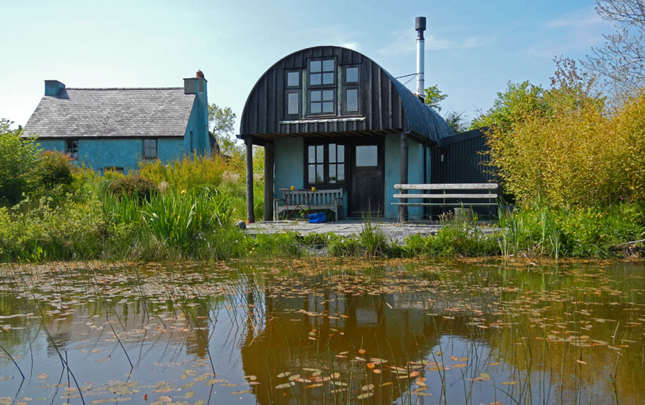 Little Barn, Pembrokeshire, view from pond